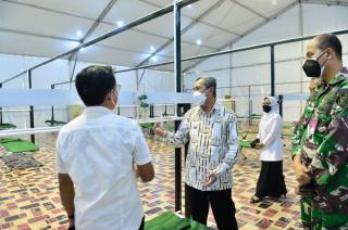 Tinjau Rumah Oksigen Lanud, Gubri: Pembangunan Sudah 95 Persen