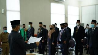 Bupati H. Mursini Lantik 46 Orang Pejabat Fungsional di Lingkup Pemda Kuansing