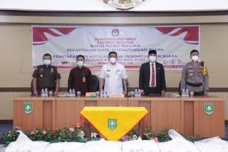 Pj. Bupati Bengkalis Hadir Rapat Pleno Terbuka KPU