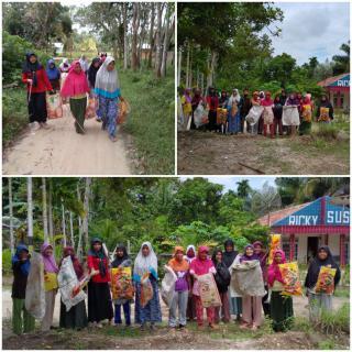 Masyarakat Dusun Pulau Bintang Desa Pasarbaru Pangean Peringati World Clean Up Day 2020 Dengan Goton