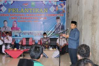 Wabup Husni Merza Hadiri Pelantikan Pengurus NPC Kabupaten Siak