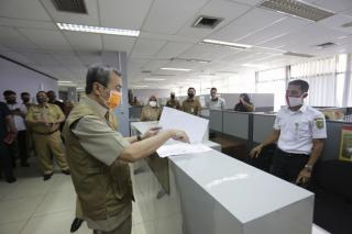Hari Pertama Masuk Kerja Tingkat Kehadiran Pegawai Pemprov Riau Mencapai 99,4 persen