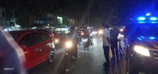 Sat Polsek Tualang Lakukan Patroli Antisipasi Pawai Takbir Keliling