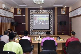 Pemkab Bengkalis Ikuti Vidcon Hari Jadi Provinsi Riau Ke–63