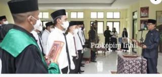 Bupati Inhil HM, Wardan Lantik Ketua dan Anggota BPD se Kecamatan Concong