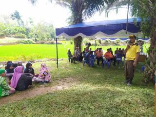 Padat Karya Desa Koto Tuo Tahun 2020 di Fokuskan Pendirian Masjid.