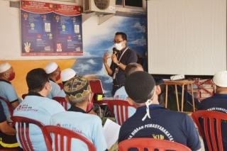 Beri Semangat Tahanan Lansia,Rutan Pekanbaru Gelar Pembinaan